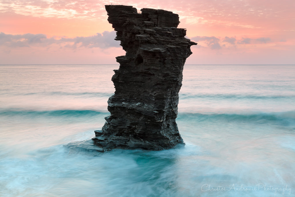 Old lady's leap at dawn - Andros