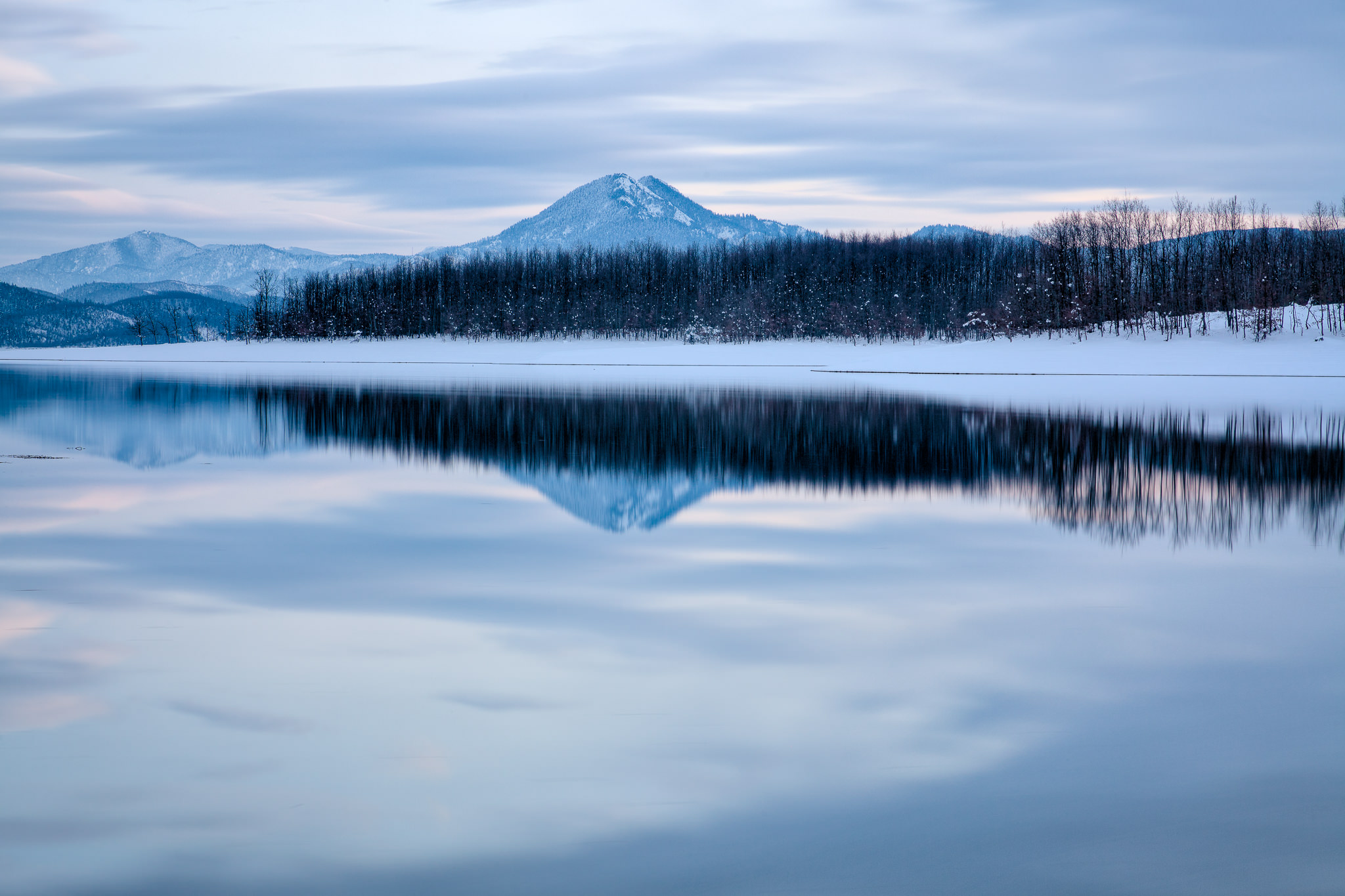 Borlero peak mirrored on lake Plastira - Karditsa